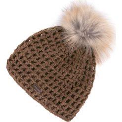 83-HF-001-4 Czapka damska. Brązowe czapki damskie Wittchen, na zimę, z materiału. Za 69,00 zł.