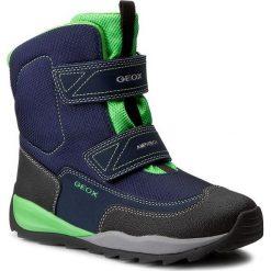 Buty zimowe chłopięce: Śniegowce GEOX – J Orizont B B. Abx F J740BF 01150 C4248 Navy/Green