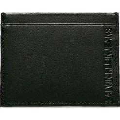 Calvin Klein Jeans - Portfel skórzany. Czarne portfele męskie marki Calvin Klein Jeans, z jeansu. Za 159,90 zł.