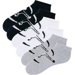 Skarpetki stopki Chiemsee (6 par) bonprix czarny + biały + szary melanż. Białe skarpetki męskie marki bonprix, melanż. Za 53,94 zł.