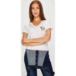 Answear - Top Garden of Dreams. Szare topy damskie marki ANSWEAR, l, z aplikacjami, z bawełny. W wyprzedaży za 47,90 zł.