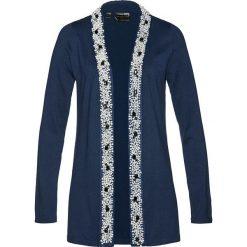 Kardigany damskie: Sweter rozpinany bonprix ciemnoniebieski