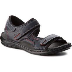 Sandały LANETTI - MSA426-1 Granatowy. Niebieskie sandały męskie skórzane Lanetti. Za 89,99 zł.
