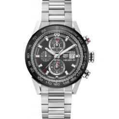 ZEGAREK TAG HEUER Carrera Chronograph Automatic CAR201W.BA0714. Czarne zegarki męskie marki KALENJI, ze stali. Za 21590,00 zł.
