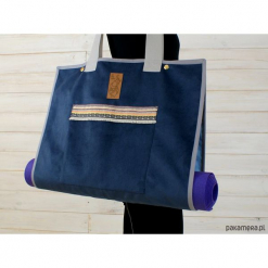 Torba na akcesoria do jogi/Indian pattern #3. Szare torebki klasyczne damskie Pakamera, z tkaniny, duże. Za 239,00 zł.