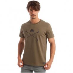 Polo Club C.H..A T-Shirt Męski L Khaki. Brązowe koszulki polo marki Polo Club C.H..A, l, z bawełny. W wyprzedaży za 119,00 zł.