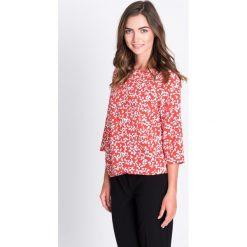 Bluzki damskie: Czerwona bluzka w białe kwiatki QUIOSQUE