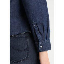 Lee CROPPED ZIP SHIRT Bluzka rinse. Niebieskie bluzki damskie Lee, l, z bawełny. Za 419,00 zł.