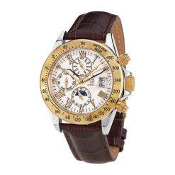 """Zegarki męskie: Zegarek """"AB-8110-GOLD-S-W-L"""" w kolorze brązowo-złoto-srebrnym"""