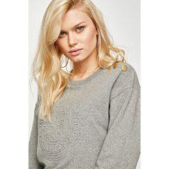 Guess Jeans - Bluza. Szare bluzy damskie Guess Jeans, l, z aplikacjami, z bawełny, bez kaptura. Za 279,90 zł.