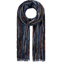 Szaliki męskie: Szal w kolorze jasnobrązowo-niebieskim – 35 x 195 cm
