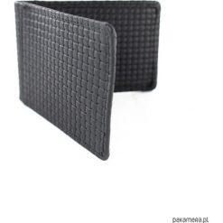 Portfel męski na karty Blackissimo II. Szare portfele męskie Pakamera, w kratkę, ze skóry. Za 70,00 zł.