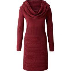Sukienki: Sukienka dzianinowa bonprix bordowy