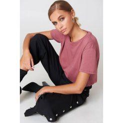 NA-KD Basic T-shirt oversize - Pink. Różowe t-shirty damskie marki NA-KD Basic, z bawełny. Za 52,95 zł.