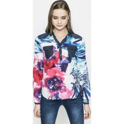 Desigual - Koszula Blus_ala de mariposa. Szare koszule damskie marki Desigual, s, z bawełny, casualowe, z długim rękawem. W wyprzedaży za 179,90 zł.