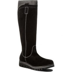 Kozaki MARCO TOZZI - 2-26651-29 Black Ant.Comb 096. Czarne buty zimowe damskie marki Kazar, ze skóry, na wysokim obcasie. W wyprzedaży za 319,00 zł.
