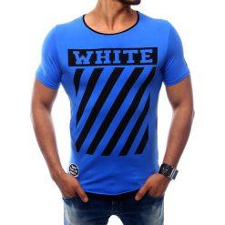 T-shirty męskie z nadrukiem: T-shirt męski z nadrukiem niebieski (rx2566)