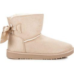 ŚNIEGOWCE Z KOKARDKĄ. Białe buty zimowe damskie marki Merg. Za 79,90 zł.