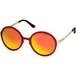 """Okulary przeciwsłoneczne męskie: Okulary męskie """"Corvus"""" w kolorze czerwono-pomarańczowym"""