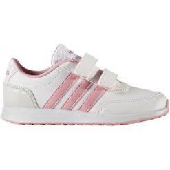 Adidas Buty Vs Switch 2 Cmf C Footwear White/Light Pink/Super Pink 32. Białe buciki niemowlęce chłopięce Adidas, z nubiku. W wyprzedaży za 95,00 zł.