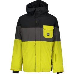 Kurtka narciarska w kolorze czarno-szaro-żółtym. Czarne kurtki męskie marki Billabong, m. W wyprzedaży za 385,95 zł.