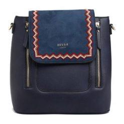 Bessie London Plecak Damski Janelle, Ciemnoniebieski. Szare plecaki damskie Bessie London, eleganckie. Za 219,00 zł.