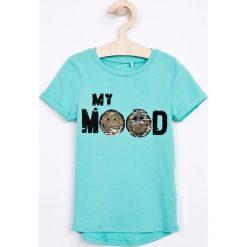 Bluzki dziewczęce bawełniane: Name it - Top dziecięcy 110-152 cm