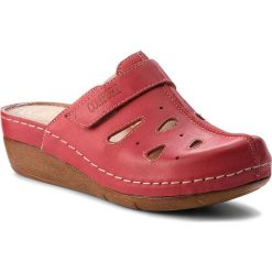 Chodaki damskie: Klapki WALDI - 0610 Czerwony