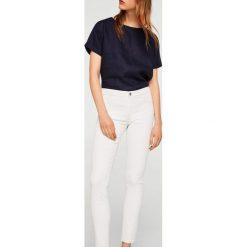 Mango - Jeansy Belle. Białe jeansy damskie marki Mango, z bawełny. Za 139,90 zł.