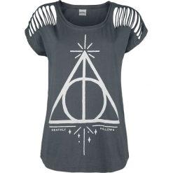 Bluzki asymetryczne: Harry Potter Master Of Death Koszulka damska szary
