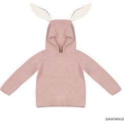Sweterek królik (pudrowy róż). Czerwone swetry dziewczęce marki Pakamera, z dzianiny. Za 149,00 zł.