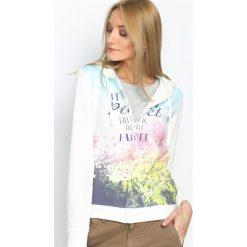 Bluzy damskie: Biała Bluza Sweet Dream