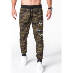 Spodnie dresowe męskie: SPODNIE MĘSKIE DRESOWE P697 - JASNE MORO