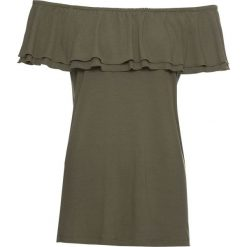 Bluzki damskie: Bluzka shirtowa bonprix ciemnooliwkowy