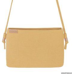 Kopertówki damskie: Nodo Bag S musztardowa mała kopertówka z paskiem