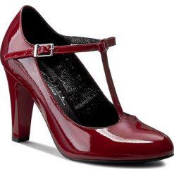 Półbuty KOTYL - 5875  Bordo Lakier. Czerwone creepersy damskie Kotyl, z lakierowanej skóry, eleganckie, na obcasie. W wyprzedaży za 219,00 zł.