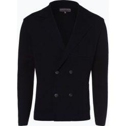 Finshley & Harding - Kardigan męski, niebieski. Czarne swetry rozpinane męskie marki Finshley & Harding, w kratkę. Za 299,95 zł.