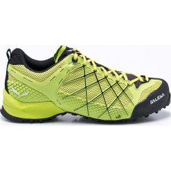 Salewa - Buty MS Wildfire. Brązowe buty trekkingowe męskie Salewa, z materiału, na sznurówki, outdoorowe. W wyprzedaży za 499,90 zł.