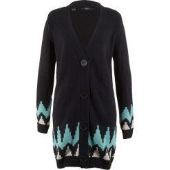Długi sweter rozpinany, szeroki fason bonprix czarny. Czarne kardigany damskie marki bonprix. Za 89,99 zł.