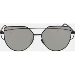Czarne okulary przeciwsłoneczne. Czarne okulary przeciwsłoneczne damskie aviatory Kazar. Za 369,00 zł.