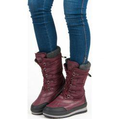 MODNE BORDOWE ŚNIEGOWCE. Czerwone buty zimowe damskie McKeylor. Za 159,00 zł.