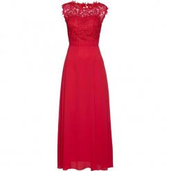 Sukienka wieczorowa z koronką bonprix czerwony. Czarne sukienki balowe marki Molly.pl, plus size, z dzianiny, z kopertowym dekoltem, plus size, z długim rękawem, midi, kopertowe. Za 249,99 zł.