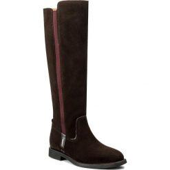 Oficerki GANT - Jennifer 15583094 Dark Brown G46. Brązowe buty zimowe damskie GANT, z materiału, na obcasie. W wyprzedaży za 499,00 zł.