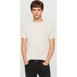 T-shirty męskie: Melanżowy t-shirt - Kremowy
