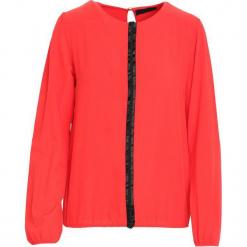 Czerwona Koszula Warmly. Czerwone koszule damskie Born2be, l, z tkaniny, z okrągłym kołnierzem, z długim rękawem. Za 59,99 zł.