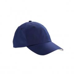 Czapka z daszkiem do golfa. Niebieskie czapki z daszkiem damskie INESIS, z materiału. Za 14,99 zł.
