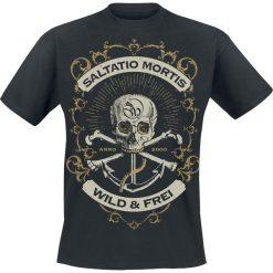 T-shirty męskie z nadrukiem: Saltatio Mortis Anchor Skull T-Shirt czarny