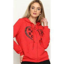 Bluzy damskie: Czerwona Bluza Hero Lover