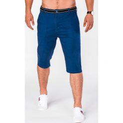 KRÓTKIE SPODENKI MĘSKIE BERMUDY P402 - NIEBIESKIE. Niebieskie bermudy męskie Ombre Clothing, z bawełny. Za 47,20 zł.