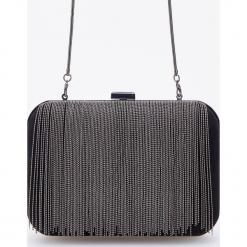 Torebka z aplikacją z metalowych koralików - Czarny. Czarne torebki klasyczne damskie Reserved, z aplikacjami, z aplikacjami. Za 119,99 zł.